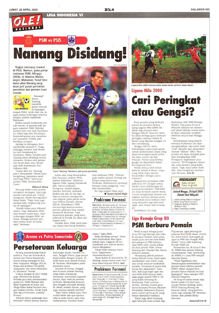 LIGA INDONESIA VI: PSM VS PSIS