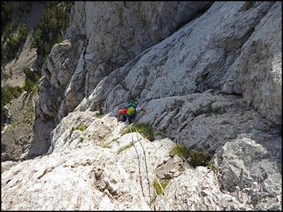 El Gat, Pedraforca, vía Homedes, tercer largo