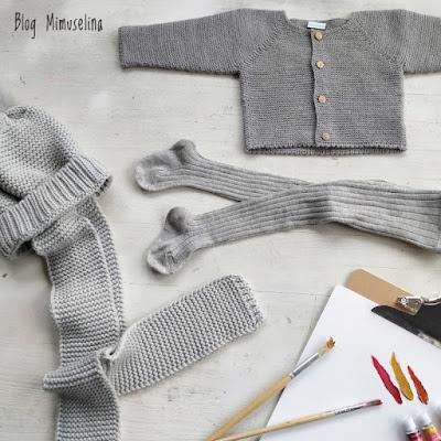 leotardos gorro bufanda pompón chaquetas de punto unisex mimuselina colección otoño invierno 2019 2020