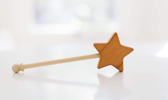 BannorToys Wooden Star Wand