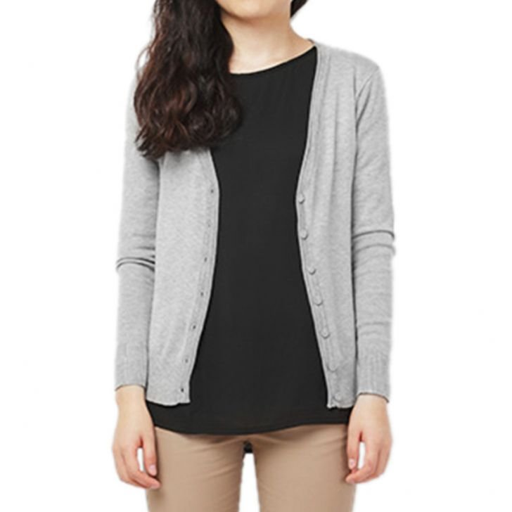 shopping di Lazada, Milktee Knit Cardigan Grey
