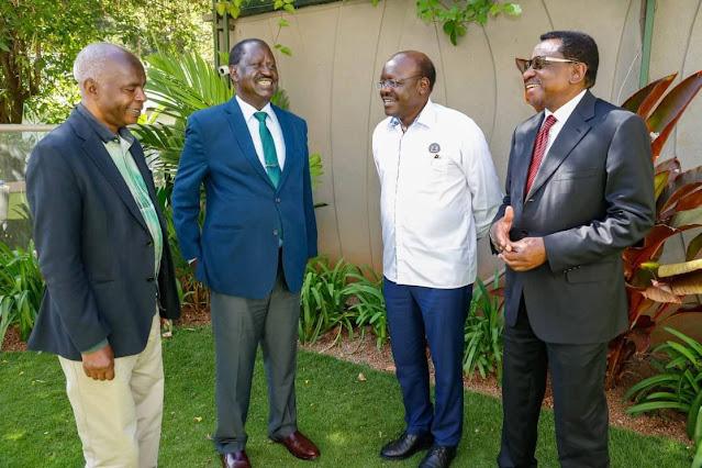 ODM chief Raila Odinga with others