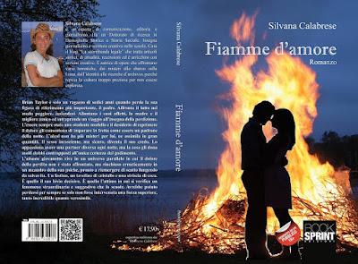 Copertina Fiamme d'amore romanzo erotico Silvana Calabrese