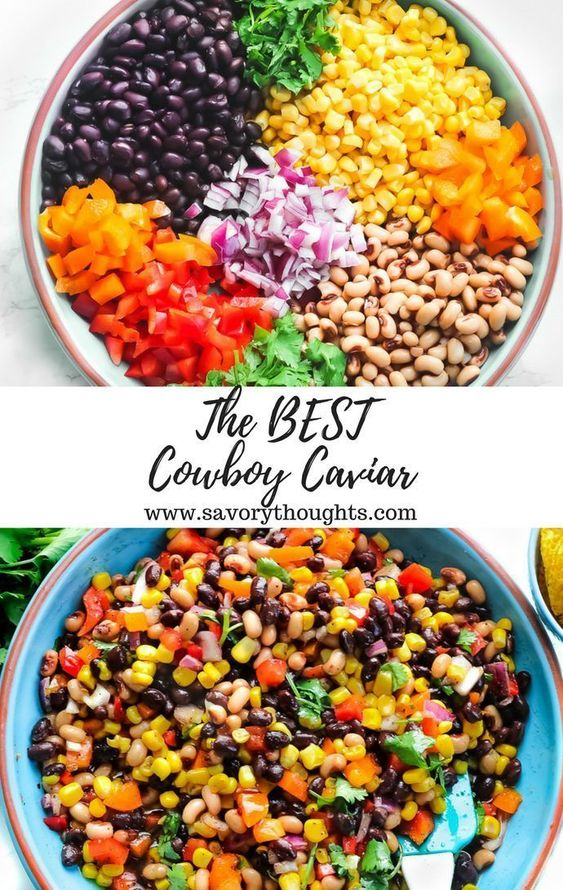 Perfectly serve Cowboy Caviar as a side dish and or as an appetizer. The easiest and most simple dip to make in 15-20 minutes. Every bite includes a sharp sweet flavor.