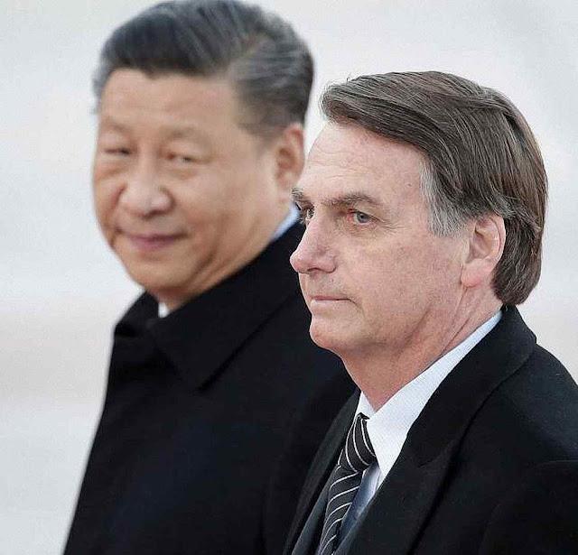 Xi-Jinping e Bolsonaro, o chinês prometeu maravilhas mas só chegou o coronavírus