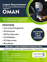 Oman Requirement for Maintenance Project