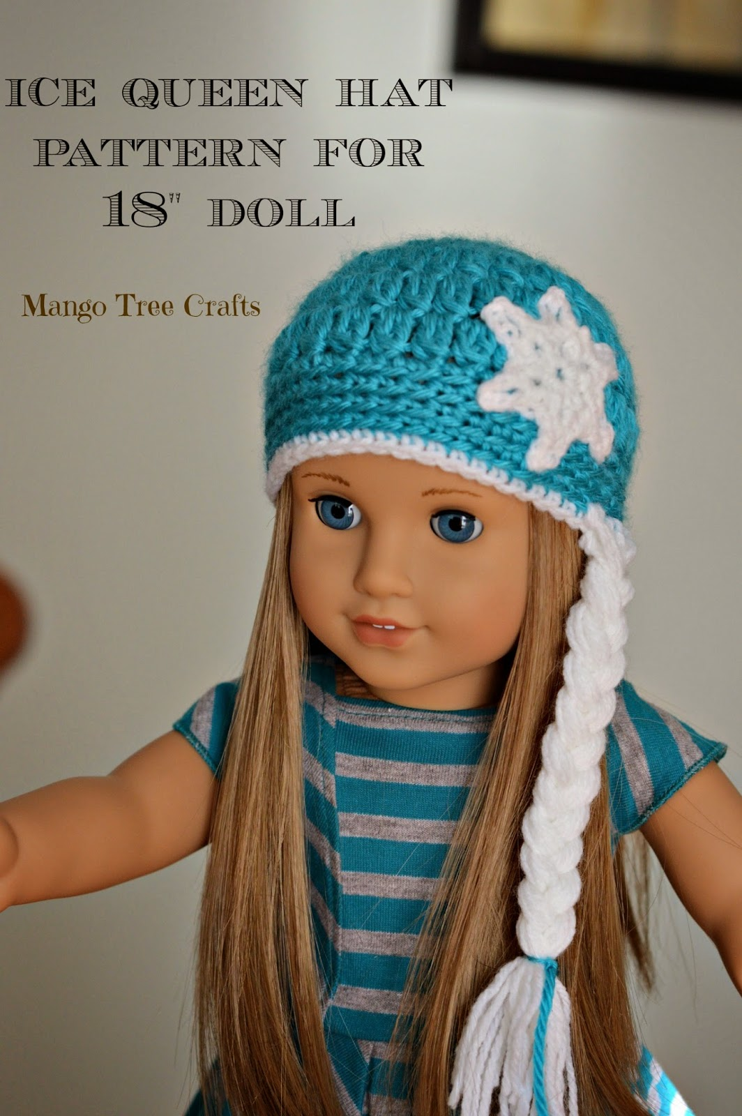 LiliA matching Ice Queen hat pattern for American girl doll is now  available on my blog. 69ef4a42ad0
