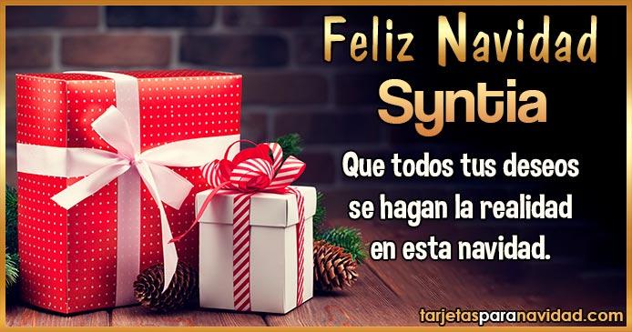Feliz Navidad Syntia
