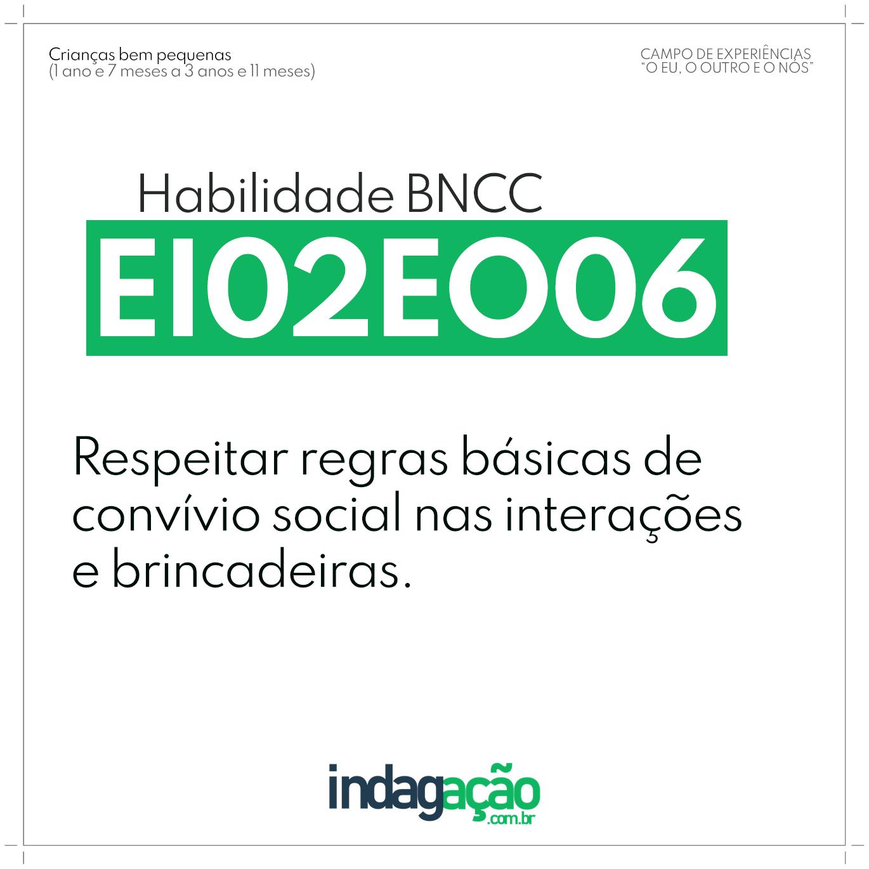 Habilidade EI02EO06 BNCC