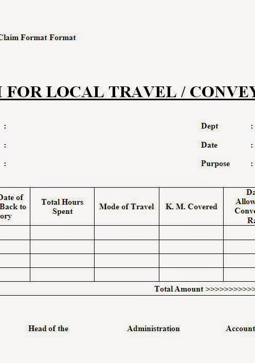company u2019s local conveyance claim format