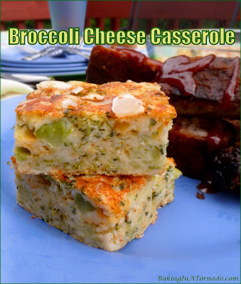 Broccoli Cheese Casserole can be shared as a side dish or even an appetizer. Lower fat options makes this recipe healthier than most casseroles made with cheese. | Recipe developed by www.BakingInATornado.com | #recipe #vegetables