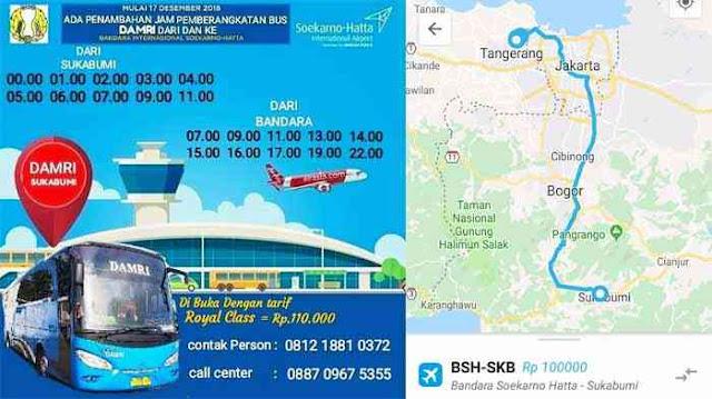 Jadwal Damri Bandara Sukabumi 2019