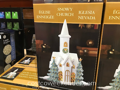 Prepare your home for winter and the holidays with the Snowy Church with LED Lights