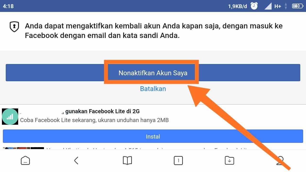 Cara menonaktifkan Facebook di PC
