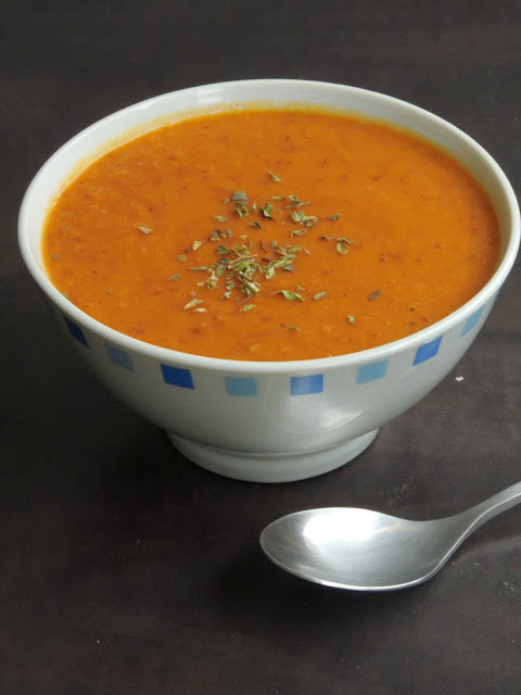 Tomato Green Moongdal Soup