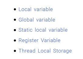 Local Variable, Global Variable, Register Variable, and Thread Local Storage C++ Storage Class