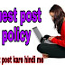Online techno guest post policy
