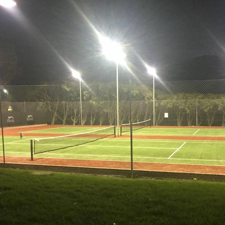Night tennis is popular