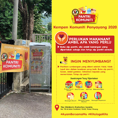 Details of the Ayam Brand community pantry in Penang, Pantri Komuniti, Kempen Komuniti Penyayang 2020, Ayam Brand,