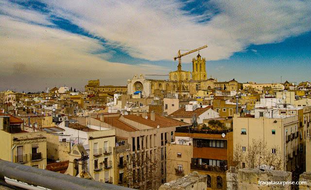 Centro Histórico de Tarragona visto das muralhas romanas