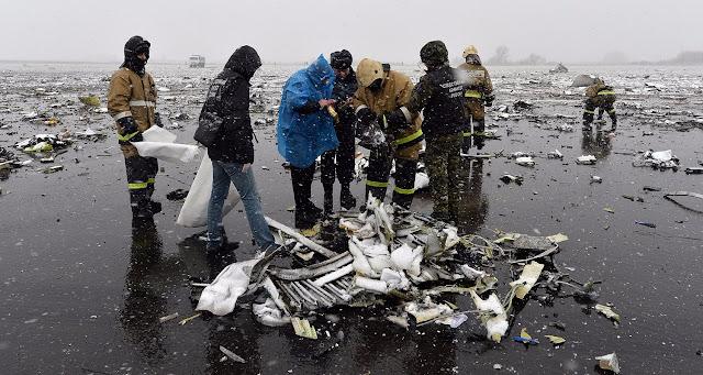 FlyDubai Boeing 737-800 Crash Site