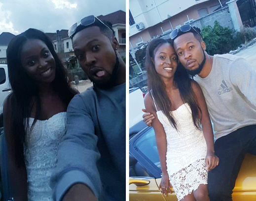 Flavour attends his babymama, Sandra Okagbue's sister's birthday party (see photos)