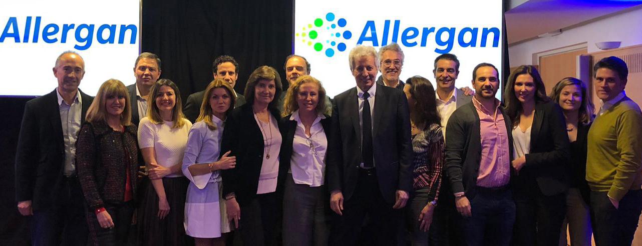 La Doctora Raquel Moreno en la presentación de novedades de Allergan