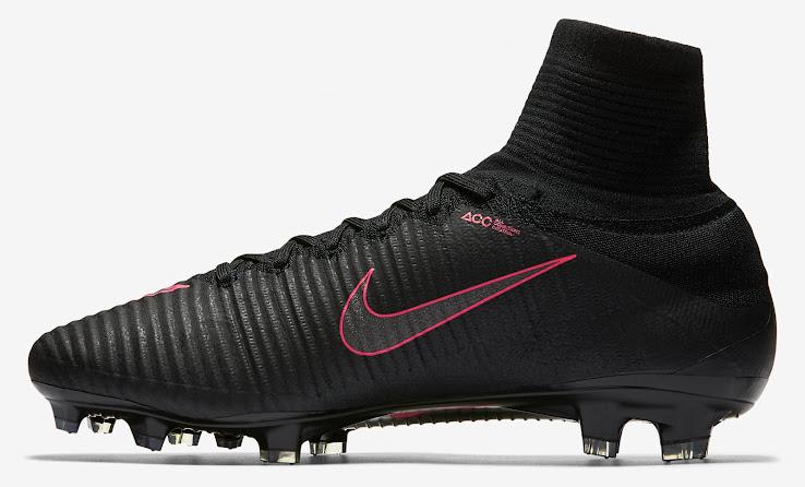 Schwarz / Pinke Nike Mercurial Superfly V 2016-2017 Fußballschuhe ...