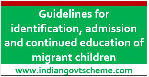 Guidelines for identification, admission