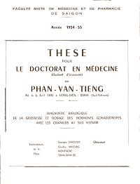 These Pour Le Doctorat En Médecine - Phạm Văn Tiếng