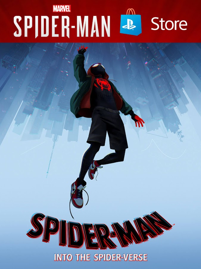 spider-man into the spider verse ps store promotion