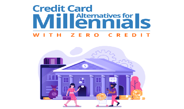 Credit Card Alternatives for Millennials with Zero Credit #infographic
