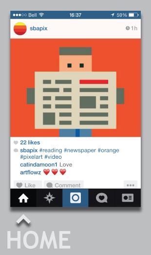 Instagram, Pixel, Social media