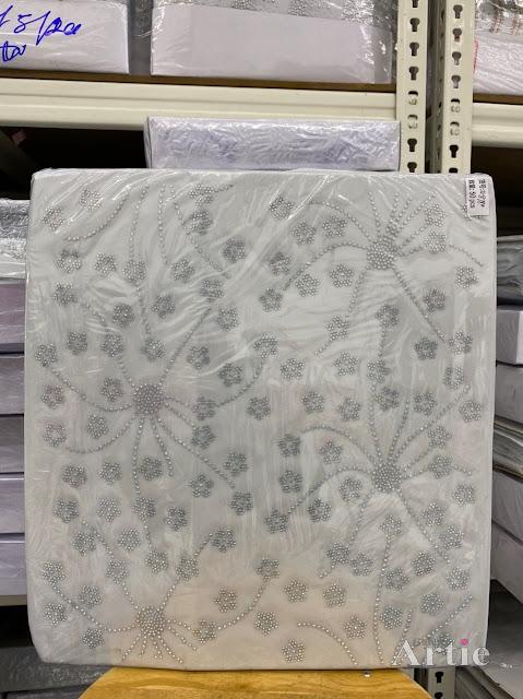 Hotfix stickers dmc rhinestone aplikasi tudung bawal fabrik pakaian bunga kecil 2 warna silver