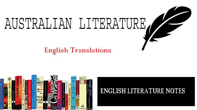 AUSTRALIAN LITERATURE,   AUSTRALIAN LITERATURE notes, Ugc Net Jrf, English literature, Net jrf Notes