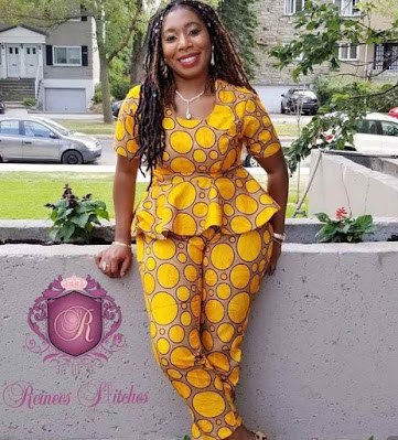 Latest Ankara Peplum Tops for Ladies