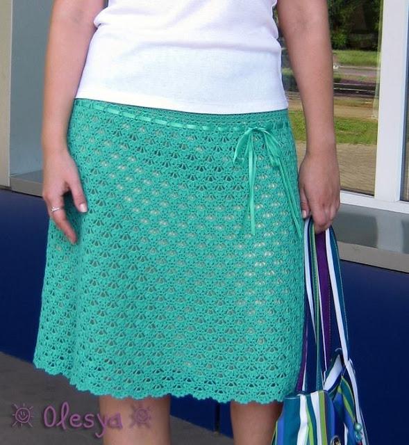 Patron #1358: Falda a Crochet