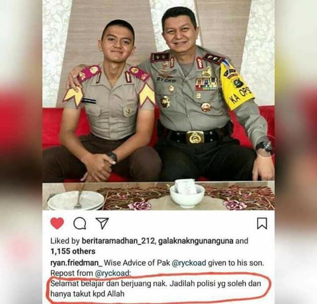 """Pesan Mengharukan Mantan KAPOLDA SUMUT Kepada Anaknya: """"Jadilah Polisi Yang Soleh dan Hanya Takut Kepada Allah"""""""
