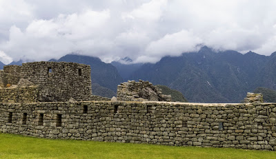 Machu Picchu Pictures: Fluffy clouds over the Andes
