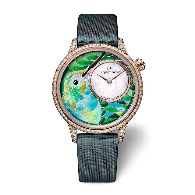 Jaquet Droz Petite Heure Minute Smalta Clara Hummingbird Green