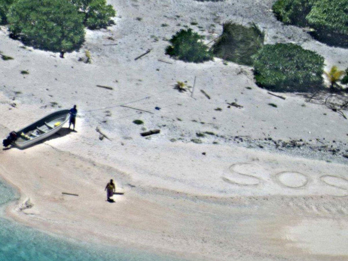 Missing sailors found in Micronesia thanks to SOS written in sand