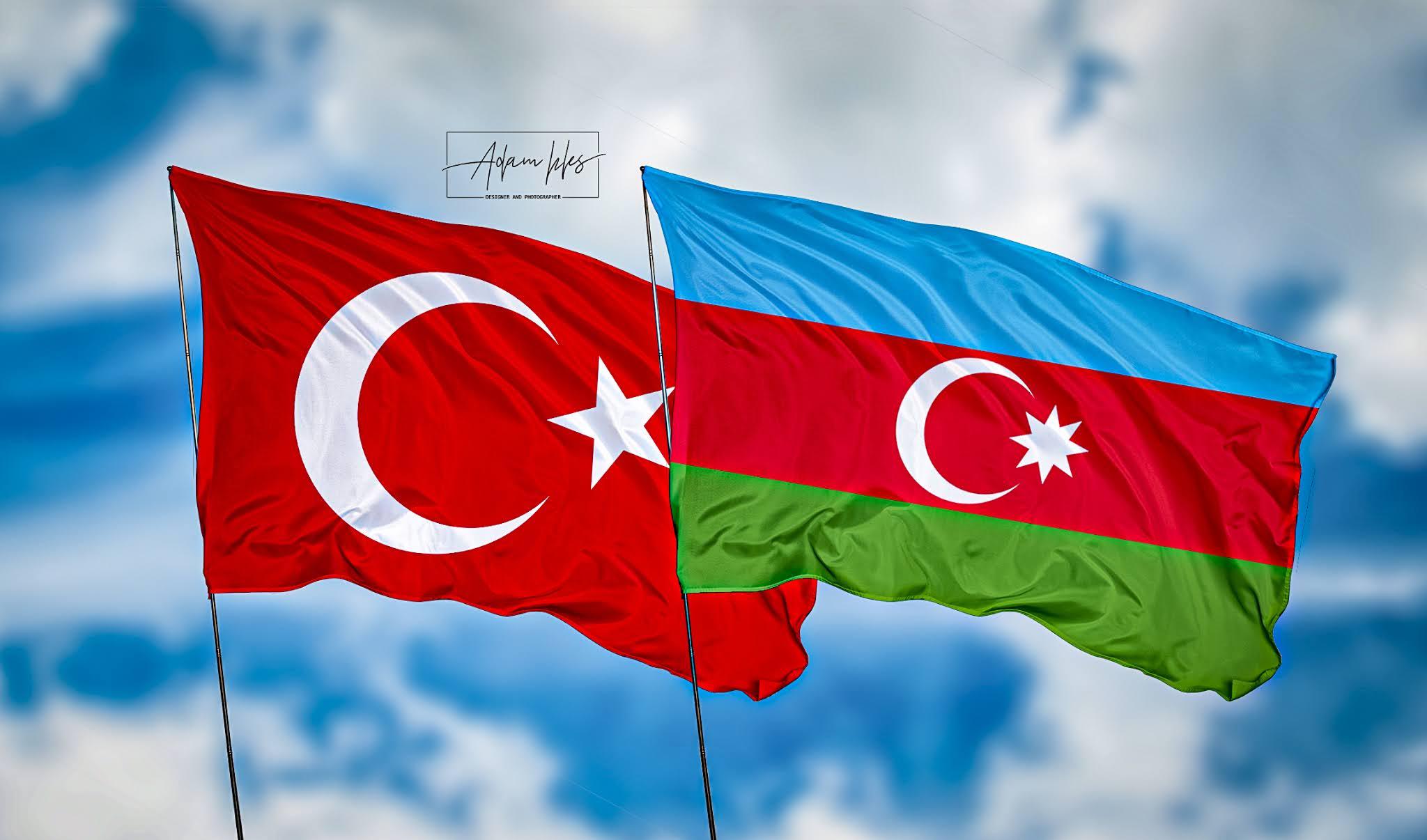 اجمل خلفية تركيا مع اذربيجان خلفيات رائعة اعلام دولة تركيا ودولة اذربيجان