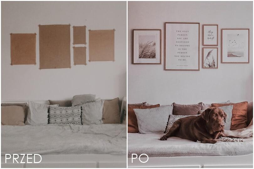 układ plakatów na ścianie planowanie