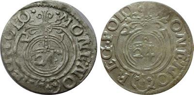 """Półtorak z 1621 - Bydgoszcz - z """"literą"""" J w dacie zamiast 1"""