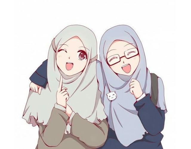 30 Gambar Kartun Muslimah Cantik Lucu Kualitas Hd Combinesia