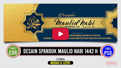 Desain Spanduk Maulid Nabi CDR