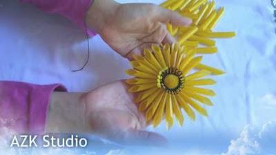 Bunga Matahari siap dipasang