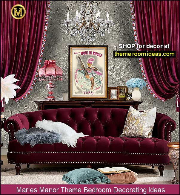 moulin rouge bedrooms can can girls Paris France Moulin Rouge theme bedrooms decorating ideas
