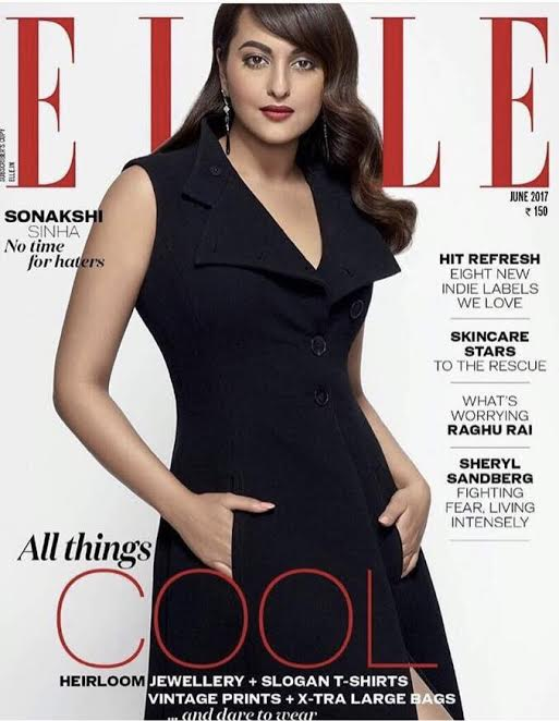 Sonakshi Sinha On The Cover of Elle Magazine India June 2017