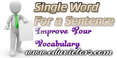 English Vocabulary - Single Word Substitutions (#cbseNotes)